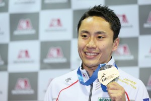太田雄貴/Yuki Ota (JPN), JULY 21, 2015 - Fencing : Yuki Ota attends a press conference after arriving in Tokyo, Japan. He got the Gold medal of men's foil individual competition during the 2015 World Fencing Championships in Moscow.  (Photo by Yohei Osada/AFLO SPORT)