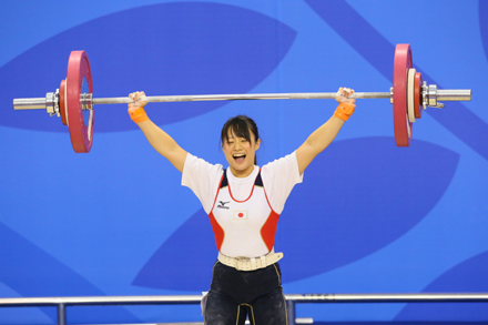 """ª–Ø'©'È'¦/Kanae Yagi (JPN), OCTOBER 7, 2013 - Weightlifting : Tianjin 2013 the 6th East Asian Games, Women's -53kg at Civil Aviation University of China Gymnasium, Tianjin, China. (Photo by AFLO SPORT) [1156]"