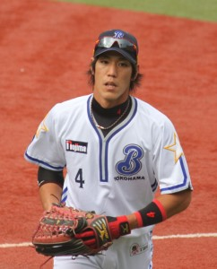 Shou_Aranami,_outfielder_of_the_Yokohama_BayStars,_at_Yokohama_Stadium
